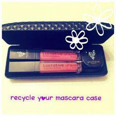 If anyone bought the original Younique fiber (fibre) lash mascara keep your old case and use it as a make up box - handy for your bag!