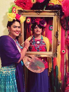 Frida Kahlo couple's costume