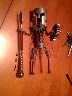 Spartan Léonidas Scrap Metal Art, Sculpture, Barware, Handstand, Bar Accessories, Sculpting, Statue, Sculptures