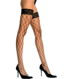 Plus Size Lycra Fence Net Thigh Hi with Lace Top [4925Q] - $6.49 : Mystic Crypt, the most unique, hard to find items at ghoulishly great prices!