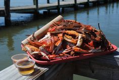 Captain Billy's Crab House - The Best Seafood Dives in Maryland - Coastal Living Steamed Crabs, Steamed Shrimp, Seafood House, Crab House, Maryland Crab Soup, Best Seafood Restaurant, Waterfront Restaurant, Crab Feast, Best Crabs