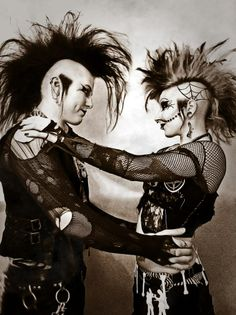 Shadow Image death-rock duo Industrial Bands, Eye Piercing, Shadow Images, Goth Bands, Gothic Images, Gothic Hairstyles, Punks Not Dead, Gothabilly, Gothic Rock
