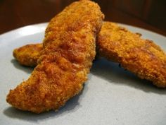 Low-Carb Chicken Tenders - using almond meal/flour & ground flaxseed instead of breadcrumbs