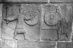 Frieze of the west facade of the former collegiate eleventh century Andlau  (Bas- Rhin) . Cl . C.E.S.C.M. Poitiers.