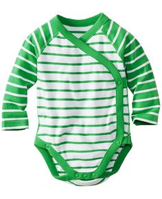 Crossover Creepers One Piece In Organic Cotton from #HannaAndersson.  love this style of onesie. it was always a favorite with Lydia
