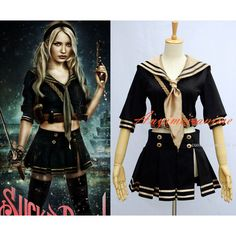 Cosplay sucker punch Baby doll Costume Custom-made G589 ❤ liked on Polyvore