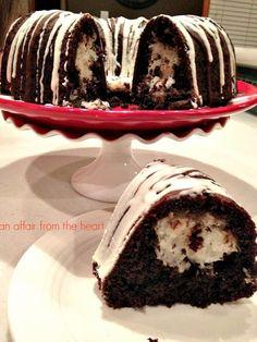 Chocolate Macaroon Tunnel Bundt Cake