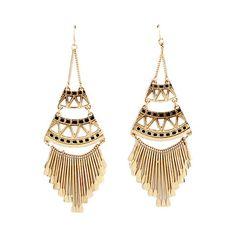 $3.82 Pair of Chic Tassels Pendant Openwork Geometric Drop Earrings For Women