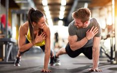 Man and woman strengthen hands at fitness training poster - Get Rid of Cellulite Blog Coaching, Ski Wm, Foto Sport, Fitness Tips, Health Fitness, Body Fitness, Trainer Fitness, Free Fitness, Health Club