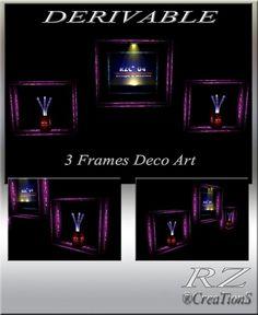 172. 3 Frames Decoration Art Meshes Furniture