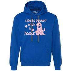 Life Is Better With A Doodle (Pink) - Heavyweight Fleece Sweatshirt