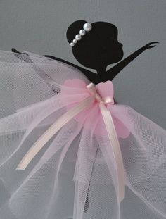 Items similar to Dancing Ballerinas Wall Decor. Nursery wall art in Pink and Grey. on Etsy Baby Crafts, Kids Crafts, Diy And Crafts, Arts And Crafts, Ballerina Art, Ballerina Birthday, Tutu Rose, Deco Cupcake, Tulle Decorations
