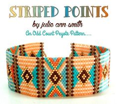 Check out our peyote bracelet selection for the very best in unique or custom, handmade pieces from our beaded bracelets shops. Peyote Stitch Patterns, Bead Loom Patterns, Bracelet Patterns, Beading Patterns, Bracelet Designs, Peyote Beading, Beadwork, Seed Bead Tutorials, Beaded Jewelry