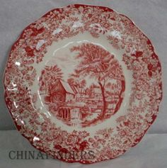 johnson brothers china patterns | Details about JOHNSON BROTHERS china MILLSTREAM PINK pattern Bread ...
