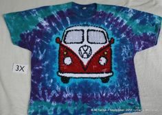 Tie Dye and Batik VW design Adult Size 2X DhlntVrp