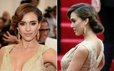 Jessica Alba - Met Ball 2014: Click the link for her hair & makeup how-tos http://parade.condenast.com/290315/jennytzeses/how-to-recreate-6-hot-hair-and-makeup-looks-from-the-met-ball/#