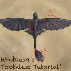Toothless Tutorial by wrobles4.deviantart.com on @deviantART