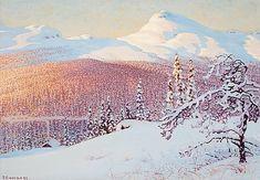 GUSTAF FJAESTAD 1868-1948, Vinterlandskap