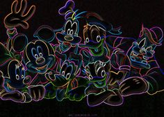 Electric Disney Friends. mickeymous, disney friend