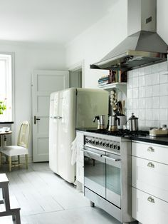 why yes I would like two Smeg fridges in my kitchen. Thanks! Amelie's House | Lovely Life