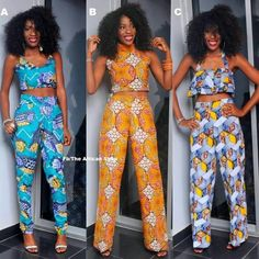 African fashion. love the blue one
