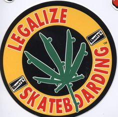 """Shorty's Skateboards Legalize Skateboarding 3.5"""" Sticker.  Click on photo to purchase."""