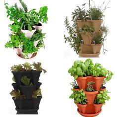 Stackable Hanging Garden Planter - Flower Pot - Indoor or Outdoor Self Watering - 4 Color