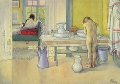 Summer Morning, published in 'Lasst Licht Hinin' (`Let in More Light'), 1908 Carl Larsson