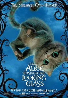 Alice through the Looking Glass Character Poster - The Chesire Cat Cheshire Cat Disney, Chesire Cat, Cheshire Cat Tim Burton, Adventures In Wonderland, Alice In Wonderland, Gato Alice, Series Poster, Walt Disney, Disney Wiki
