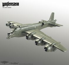 This is a collection of highpoly models I made for Wolfenstein: The New Order, all designs are by the awesome conceptart-team at Machinegames or by me. Everything is built and rendered in Modo. Luftwaffe, Concept Ships, Concept Art, Wolfenstein The New Order, Spaceship Art, Alternate History, Retro Futuristic, Aircraft Design, War Machine