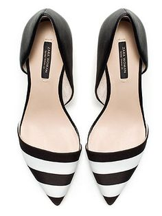 We've a feeling these pretty black and white heels are going to make it into our wardrobe in no time. #love #monochrome #perfect Heels, £39.99, Zara - Cosmopolitan.co.uk