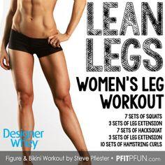 Lean Leg Workout for Women by Steve Pfiester @Matt sung Whey