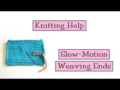 Slow Motion Weaving Ends - VeryPink offers knitting patterns and video tutorials from Staci Perry. Short technique videos and longer pattern tutorials to take your knitting skills to the next level. Knitting Help, Knitting For Charity, How To Start Knitting, Loom Knitting, Knitting Stitches, Knitting Patterns Free, Stitch Patterns, Free Pattern, Knooking Tutorial
