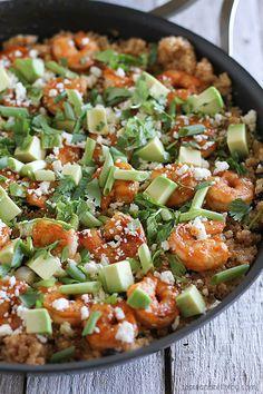 Southwestern Shrimp Quinoa Recipe FoodBlogs.com