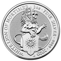 2020 Great Britain 2 oz Silver Queen's Beasts White Lion at Austin Rare Coins and Bullion Bullion Coins, Silver Bullion, Mint Coins, Gold Coins, Silver Coins For Sale, Mint Gold, Silver Eagles, Rare Coins, Coin Collecting