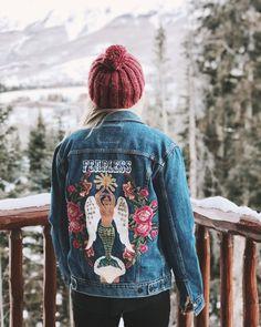 Fearless Frida Denim and Bone denim jacket