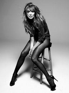 edgy broken pose - studio photography - black and white