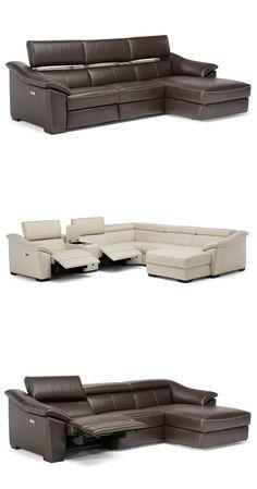 Emozione posiada system Zero oszczędzający miejsce na ścianie, pozwala on na rozkładanie się sofy bez przesuwanie się od ściany #furniture #interiordesign #sofa #natuzzi #home #meble #kanapy #armchair #sofas #cornersofa Sofa King, King Beds, Sofa Bed, Bed In Corner, Small Sofa, Reclining Sofa, Bathroom Rugs, Leather Cover, Sofa Design