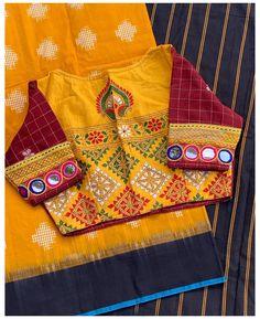 Cotton Saree Blouse Designs, Cutwork Blouse Designs, Simple Blouse Designs, Stylish Blouse Design, Blouse Patterns, Kutch Work Designs, Hand Work Blouse Design, Making Ideas, Ikkat Saree