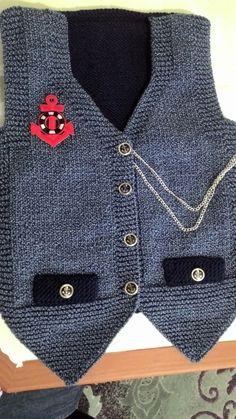 when my little pocket – benim yaptıklarım – # tissue - Knitting Baby Knitting Patterns, Baby Boy Knitting, Knitting Designs, Baby Boy Vest, Baby Boy Cardigan, Knitted Baby Cardigan, Toddler Poncho, Baby Sweaters, Crochet Baby
