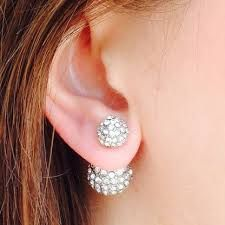 Image result for front and back earrings
