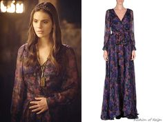 """In episodes 2x14 (""""The End of Mourning"""") and 2x21 (""""The Siege"""") Lady Kenna wears this sold out Zac Posen Chiffon Flower Printed Maxi Dress."""