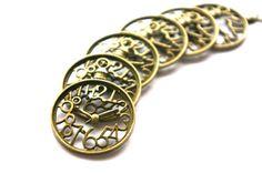 Antique Bronze Steampunk Clockwork charmes  par PeaceLoveCharmony