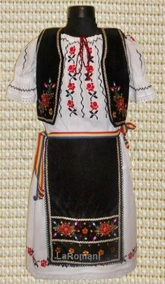 Costum Popular Andrada Two Piece Skirt Set, Popular, Costumes, Romania, Skirts, Dresses, Fashion, Gowns, Moda
