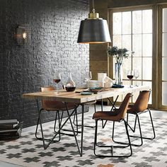 Applying One Of Industrial Dining Room Design Ideas Will Bring Luxury And Classy… – Top Trend – Decor – Life Style Dinner Tables Furniture, Diy Dining Room Table, Elegant Dining Room, Dining Room Design, Dinner Room, Dining Room Inspiration, Apartment Interior Design, Kitchen Decor, Home Decor