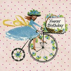 Penny Farthing Birthday Card