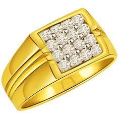 Diamond 0.48cts Men's Ring