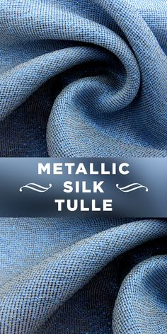 Silk Blend Italian Marquiesette Tulle in Blue