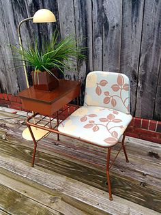 Your place to buy and sell all things handmade Gooseneck Floor Lamp, Outdoor Chairs, Outdoor Furniture, Retro Furniture, Gossip Bench, Antique Phone, Telephone Table, Art Deco, 19 Days