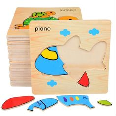 SUKIToy 8pcs/lot Wooden 3d Puzzle Montessori Educational Toys For Preschool Children Brinquedos Nice Gift 15*15*0.6cm. Yesterday's price: US $28.58 (23.58 EUR). Today's price: US $16.00 (13.16 EUR). Discount: 44%.